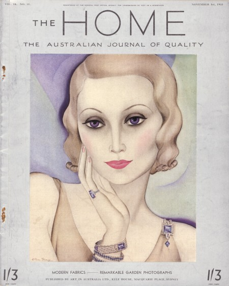 Cover, The Home, 1 November 1933