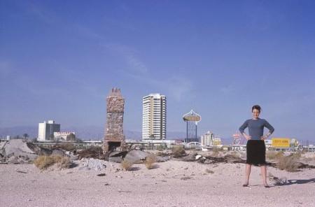 Photograph of Denise outside Las Vegas, 1966