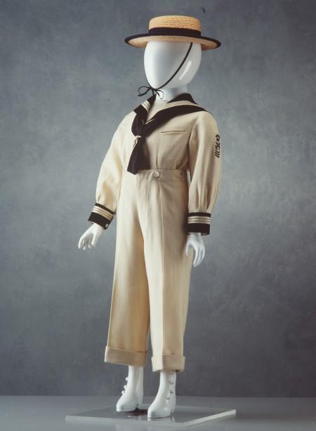 Photograph of Boy's two-piece sailor suit
