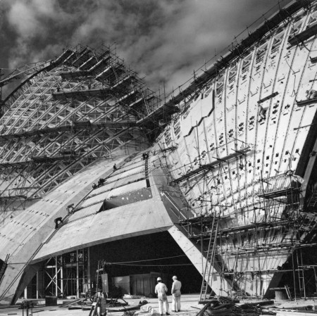 Photograph of Opera House construction