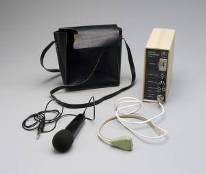 Photograph of wearable speech processor 'PSP-1'