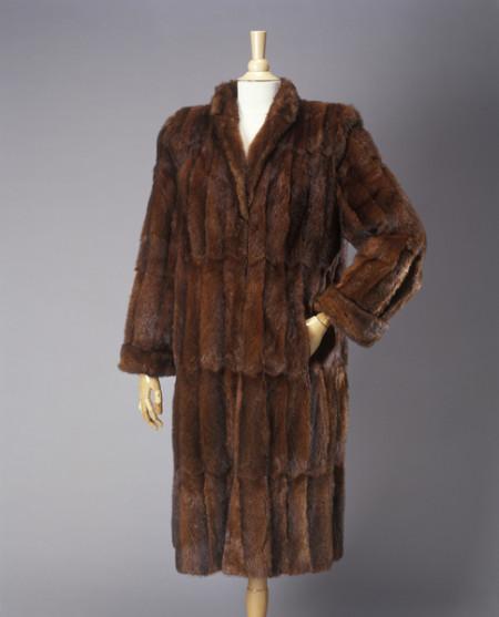Photograph of water rat fur womens coat