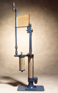 Photograph of Bowser petrol pump, c.1912