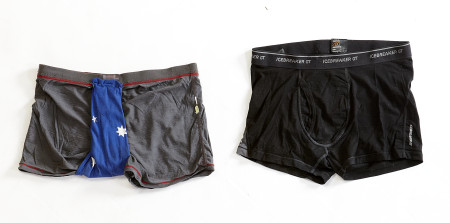 Photograph of Underpants worn by James Castrission and Justin Jones during the Crossing the Ice Antarctic expedition