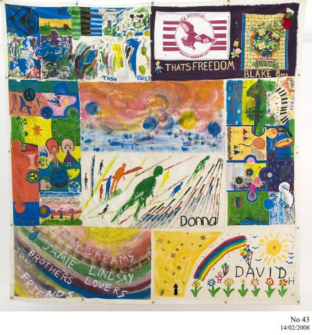 Photograph of Australian AIDS Memorial Quilt