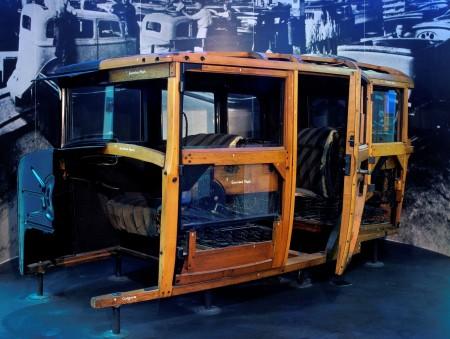 Sectioned 1928 Chevrolet National sedan body