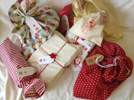 Photograph of Christmas wrapping cloths