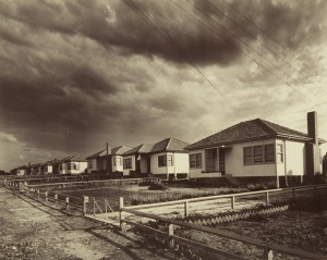 Photograph of Vandyke Brothers houses at East Hills, 1948
