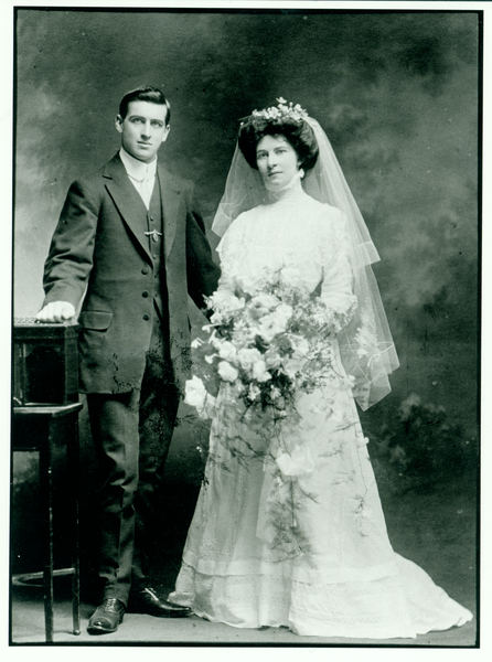 Jack and Penny Male on their Wedding Day 1909