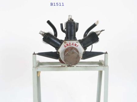 A 3 cylinder Anzani engine