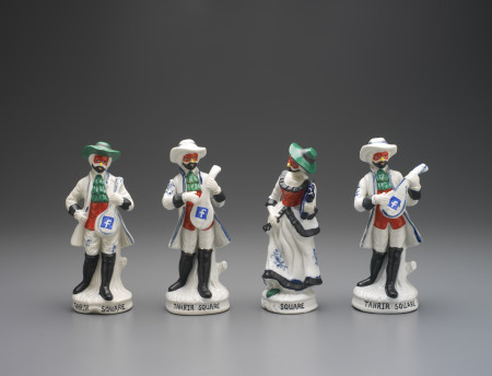 Photograph of four Sculptural figures