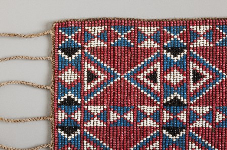Detail of armband showing the geometric motifs