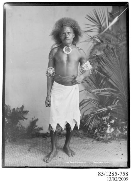 Photograph of 'Native Policeman, Fiji' 1880-1900