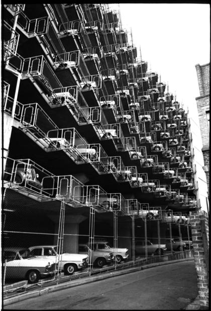 Car park, Kent Street, Sydney 1969