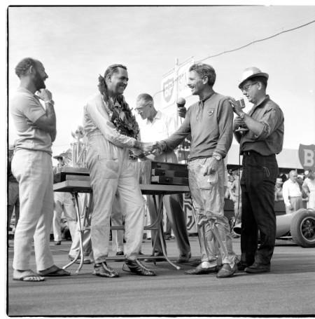 Portrait of Jack Brabham with David McKay