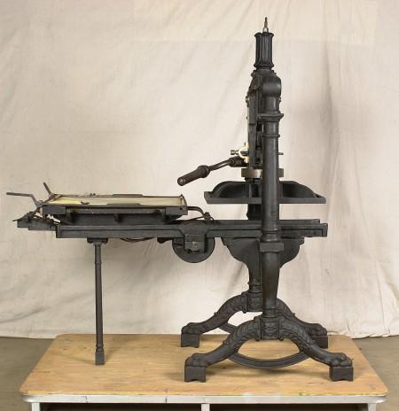Albion hand printing press, iron