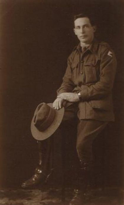 WW1 uniform by Private Charles Moss