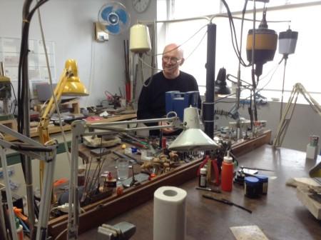 Johannes Kuhnen in his studio at Workshop Bilk in Queanbeyan, ACT