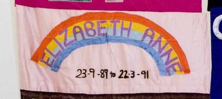 Quilt panel to remember Elizabeth Anne