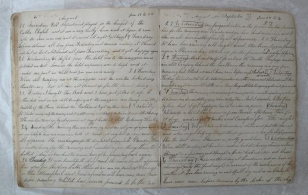 Photograph of JJW diary page