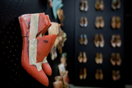 Detail of shoe lasts from the late Perkal Brothers