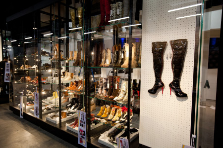Photograph of 'Bootiful' display in RECOLLECT: Shoes