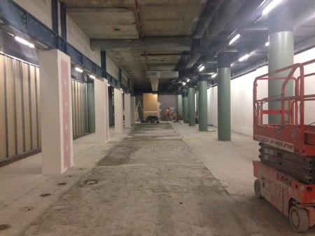 Photograph of empty 'The Vault' gallery space in early September 2014