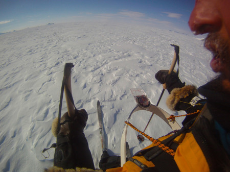 The compass system in action in Antarctica, 2012, photo supplied by James Castrission and Justin Jones