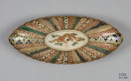 Japanese dish presented to the New South Wales Collection of Applied Art by Charles F. Laseron in 1927.