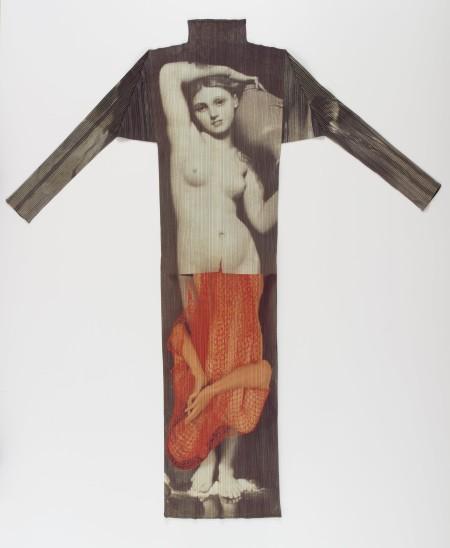Photo of dress, Pleats Please Issey Miyake Guest Artist series No 1: Yasumasa Morimura, Japan, 1996, MAAS collection