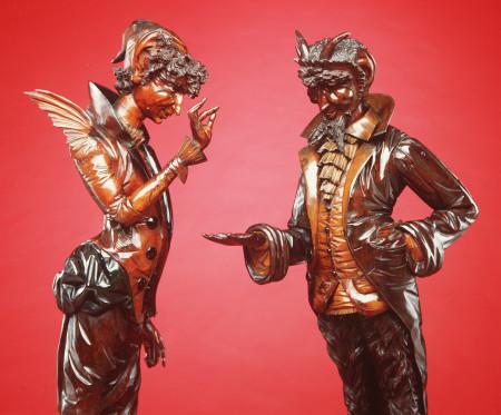 Mephistophelian figure depicting Mr Devil
