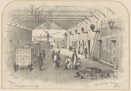 Illustrated Temporary Sydney station