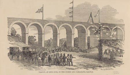 Drawing of opening of the Long Cove Creek viaduct