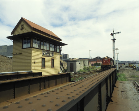 Photograph of the Ultimo Street signal box