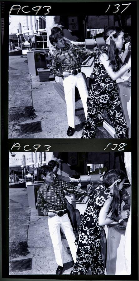 Photograph negative, children's clothing fashion shoot Luna Park