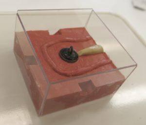 Original button in silicone