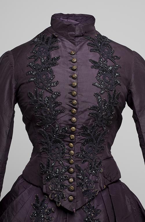 Bodice of Janet McDonald's purple wedding gown