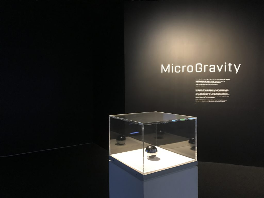 The silicon sphere on display in MicroGravity