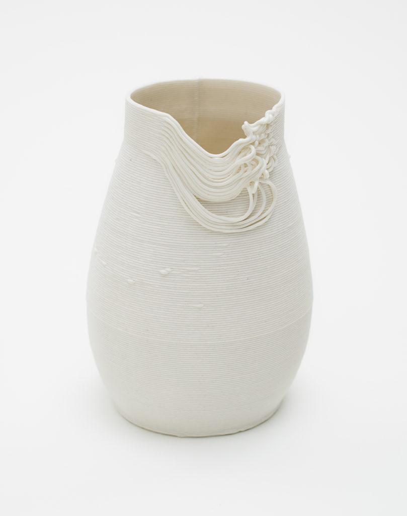 Ceramic vessel, made of 3D printed porcelain