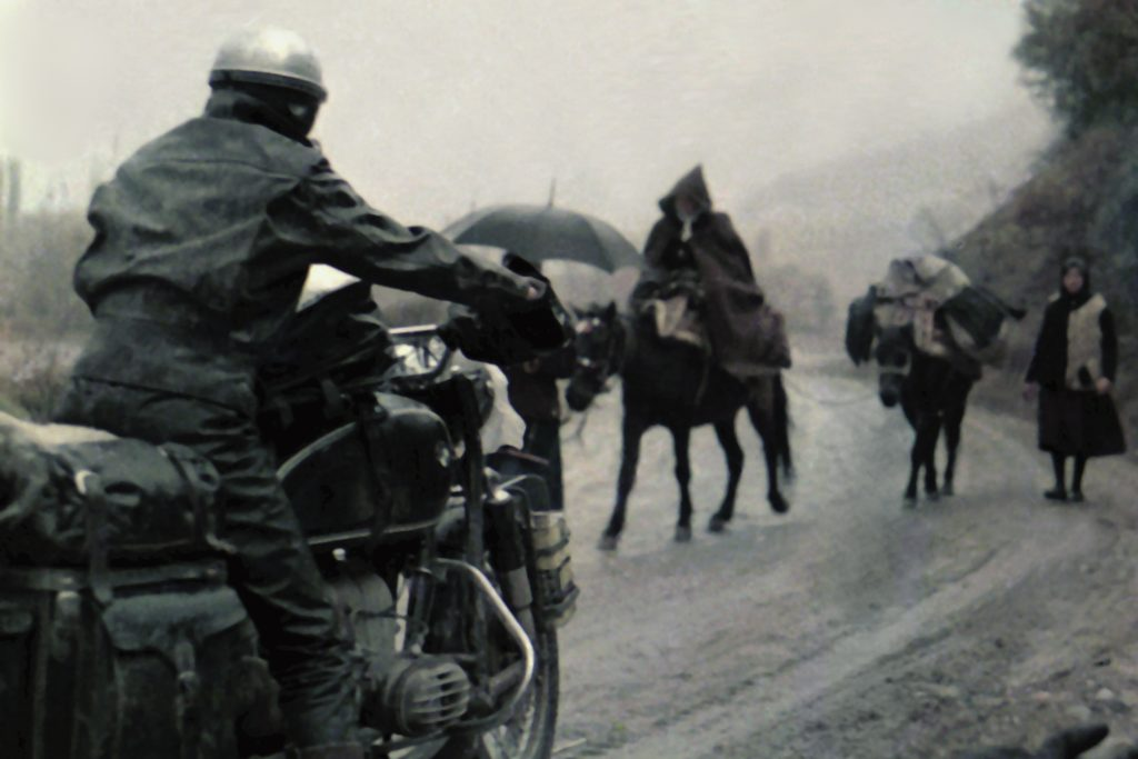 Riding in the rain, Macedonia