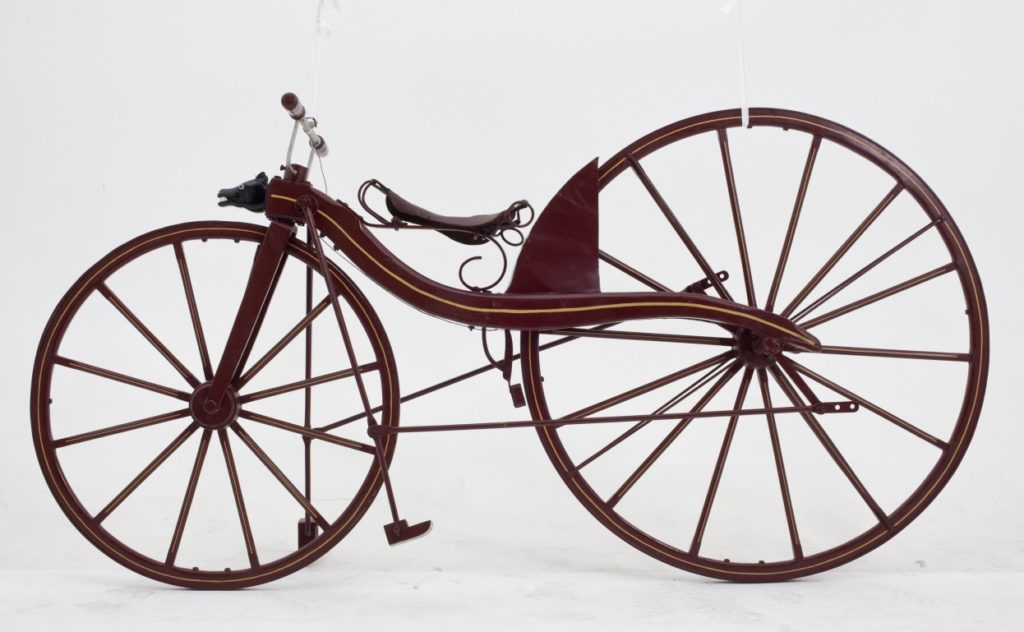 Reproduction of a Macmillan bicycle of 1839