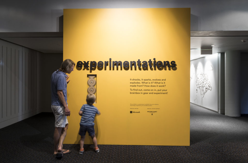 Entrance to Experimentations Exhibition