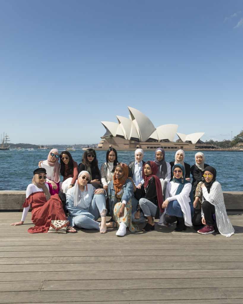 Fashion shoot in front of Sydney Opera House
