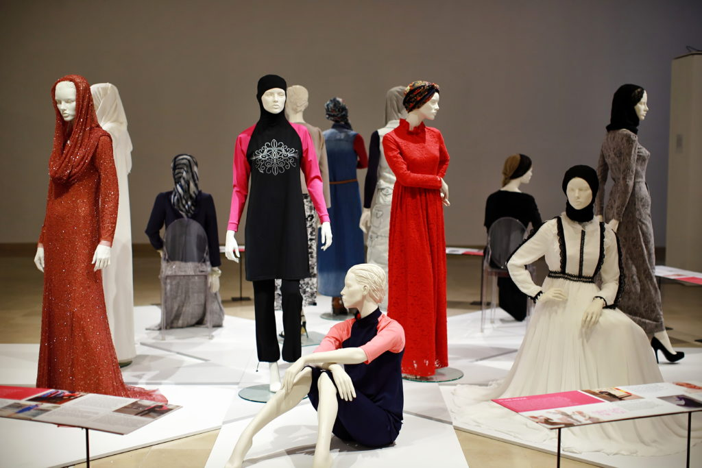 'The Business of Modest Fashion' installation