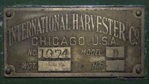 Detail of Car Maker's Plate