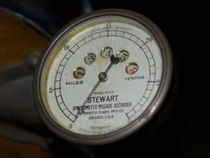 Detail of instrumentation on the dashboard