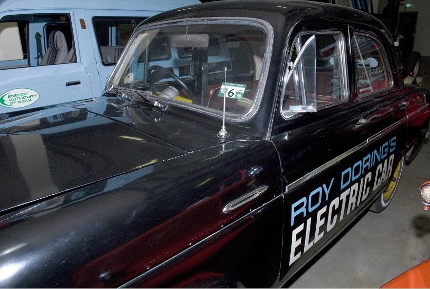 Detail of wording: 'Roy Doring Electric Car'