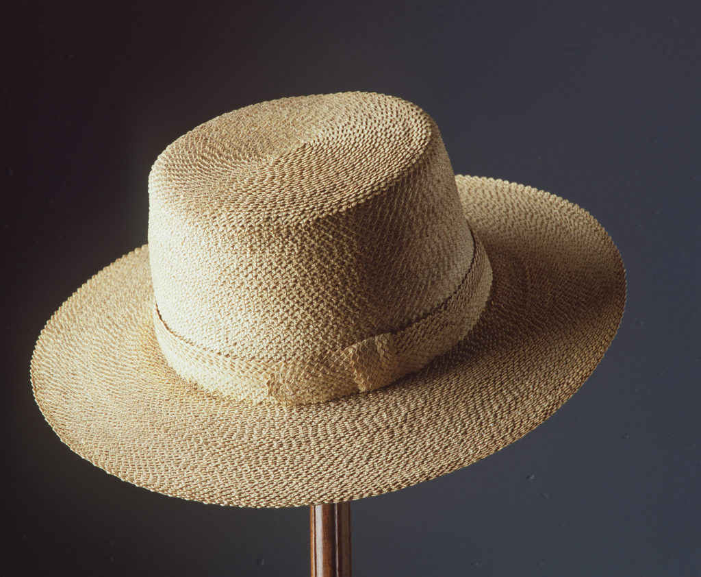 Woven cabbage tree palm hat