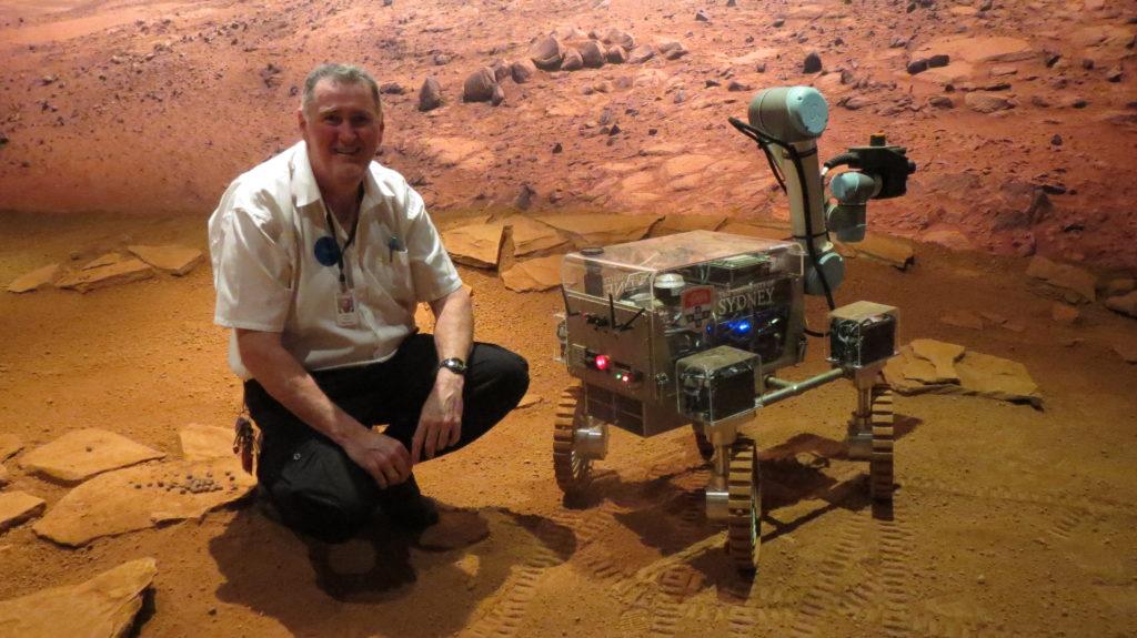 Geoff Wyatt, Education Program Producer, in the Museum's Mars Lab