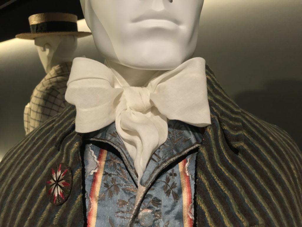 Detail of 18th century necktie